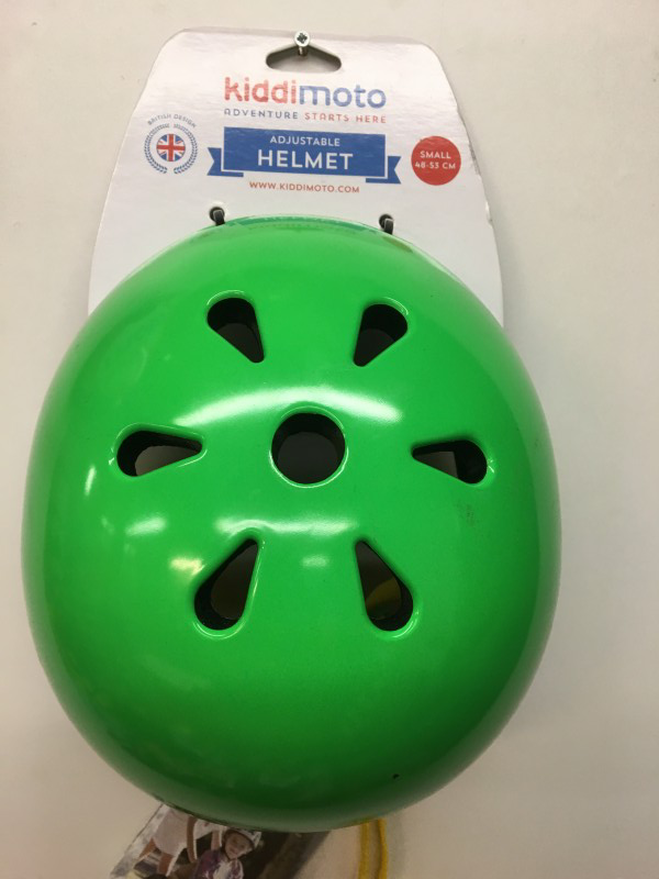 KIDDIMOTO kinderhelm neon green
